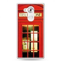Etui na telefon Huawei Mate 8 czerwona budka telefoniczna