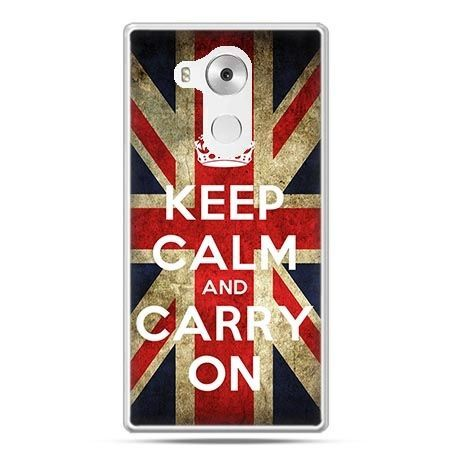 Etui na telefon Huawei Mate 8 Keep calm and carry on