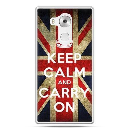 Etui na telefon Huawei Mate 8 Keep calm and carry on