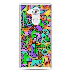 Etui na telefon Huawei Mate 8 kolorowa abstrakcja