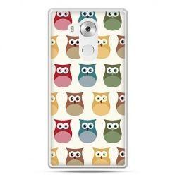 Etui na telefon Huawei Mate 8 kolorowe sowy