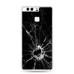 Etui na telefon Huawei P9 rozbita szyba