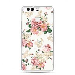 Etui na telefon Huawei P9 polne kwiaty