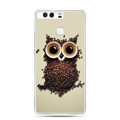 Etui na telefon Huawei P9 Kawa sowa