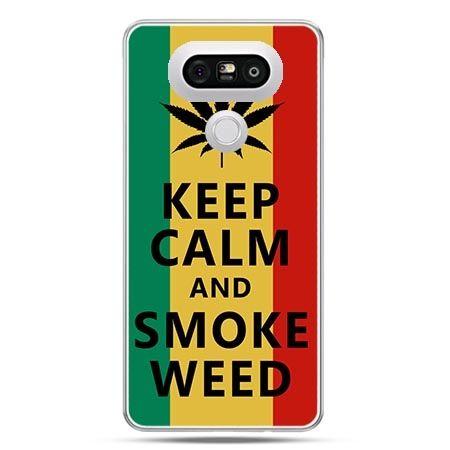 Etui na telefon LG G5 Keep Calm and Smoke Weed