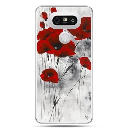 Etui na telefon LG G5 czerwone maki