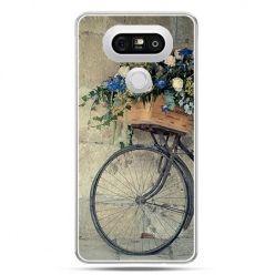 Etui na telefon LG G5 rower z kwiatami