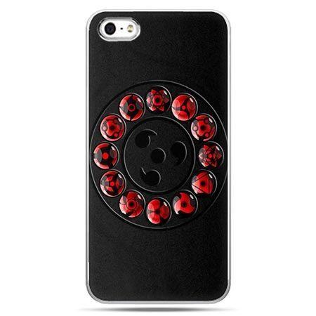 Etui na telefon Naruto czarne symbole.