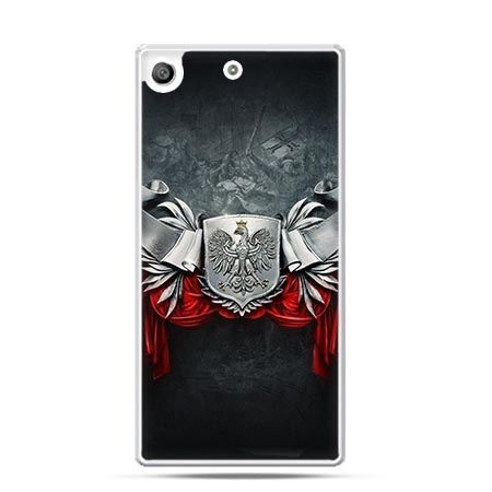 Etui na telefon Xperia M5 patriotyczne - stalowe godło