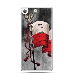 Etui na telefon Xperia M5  patriotyczne - flaga Polski