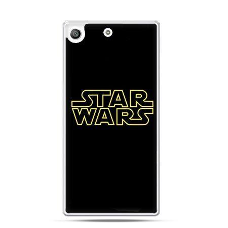 Etui na telefon Xperia M5 Star Wars złoty napis