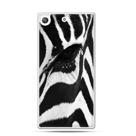 Etui na telefon Xperia M5 zebra