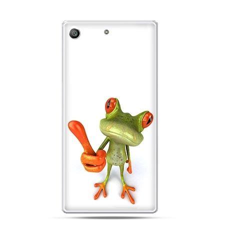 Etui na telefon Xperia M5 śmieszna żaba