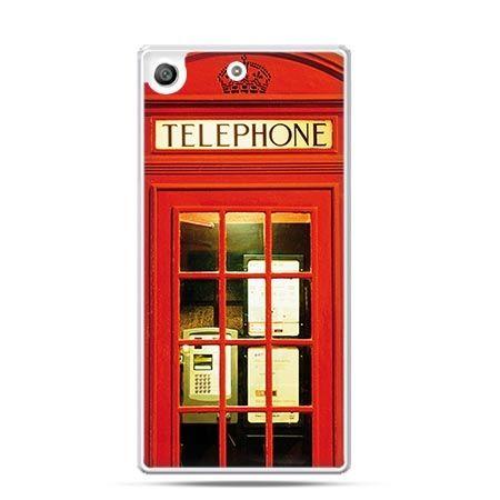Etui na telefon Xperia M5 czerwona budka telefoniczna