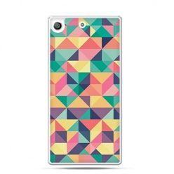 Etui na telefon Xperia M5 kolorowe trójkąty