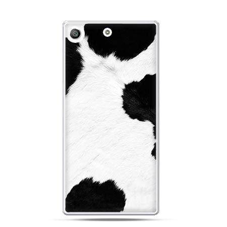 Etui na telefon Xperia M5 łaciata krowa