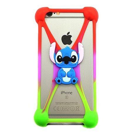 Gumowe etui na telefon z kolorową postacią - niebieski potworek.