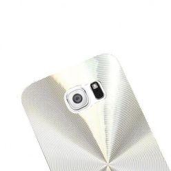 Samsung Galaxy S6 Edge plecki aluminiowe efekt cd - srebrne. PROMOCJA !!!