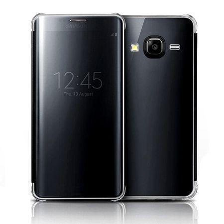 Galaxy J3 2016r etui Flip Clear View czarne z klapką.