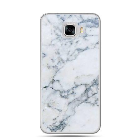 Etui na telefon Samsung Galaxy C7 - biały marmur