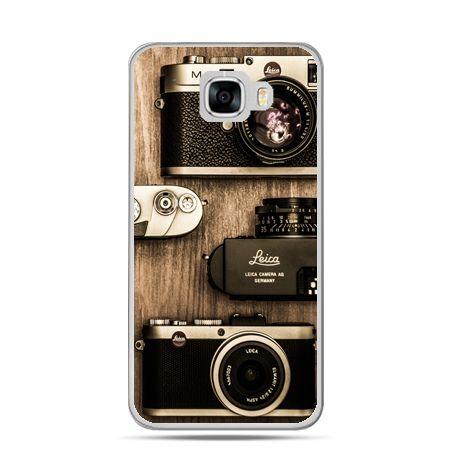 Etui na telefon Samsung Galaxy C7 - aparaty retro