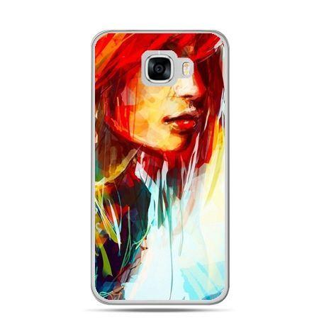 Etui na telefon Samsung Galaxy C7 - kobieta akwarela