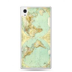Etui na telefon Sony Xperia XA - mapa świata