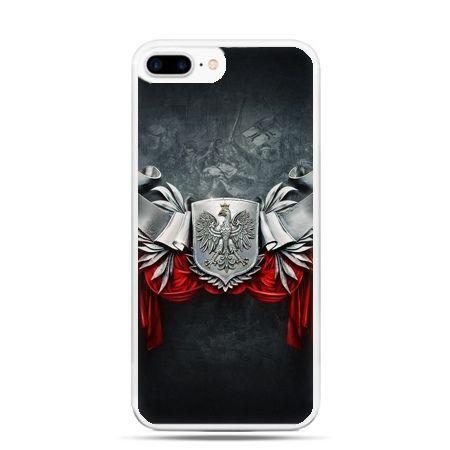 Etui na telefon iPhone 7 Plus patriotyczne - stalowe godło