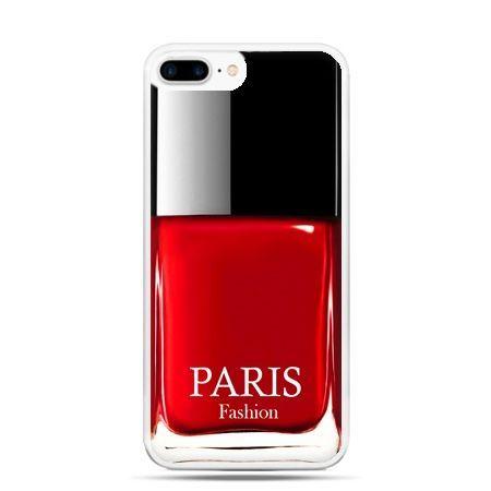 Etui na telefon iPhone 7 Plus - lakier do paznokci czerwony