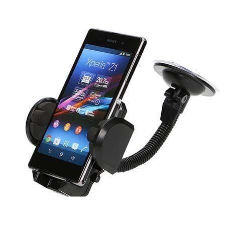 Spiralo - Uniwersalny uchwyt samochodowy na Galaxy A7 2018 czarny.