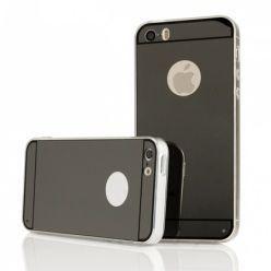 iPhone 4 / 4s lustro - mirror, silikonowe elastyczne TPU - czarne.