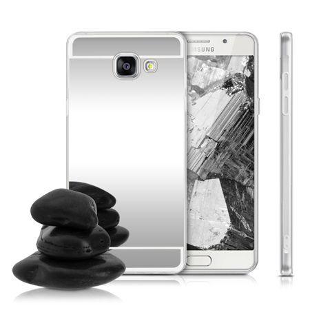 Etui na Galaxy A3 (2016) mirror - lustro silikonowe TPU - srebrne.