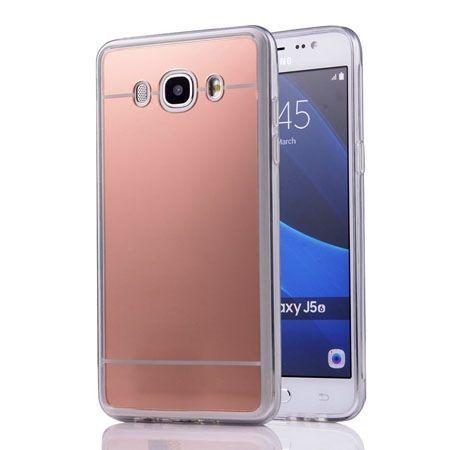 Galaxy J5 2016r mirror - lustro silikonowe etui lustrzane TPU - rose gold.