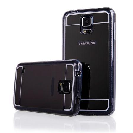 Galaxy S5 mirror - lustro silikonowe etui lustrzane TPU - czarne.