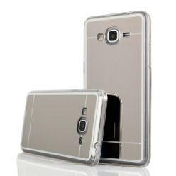 Galaxy J3 2016r mirror - lustro silikonowe etui lustrzane TPU - srebrny.