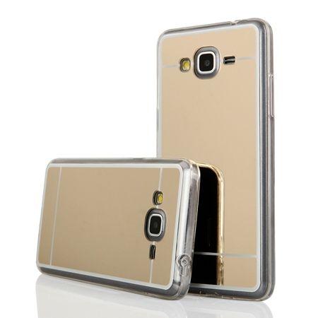 Galaxy A5 mirror - lustro silikonowe etui lustrzane TPU - złoty.