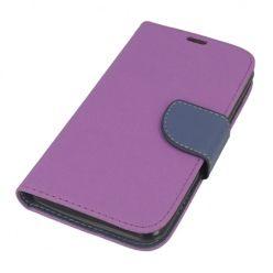 Etui na Xperia E4G Fancy Wallet - fioletowy. PROMOCJA!!!
