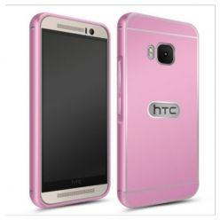 HTC One M9 etui aluminium bumper case różowy.