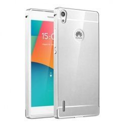 Huawei P7 etui aluminium bumper case srebrny.