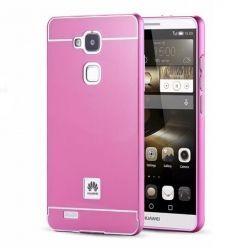 Huawei Mate 7 etui aluminium bumper case - Różowy