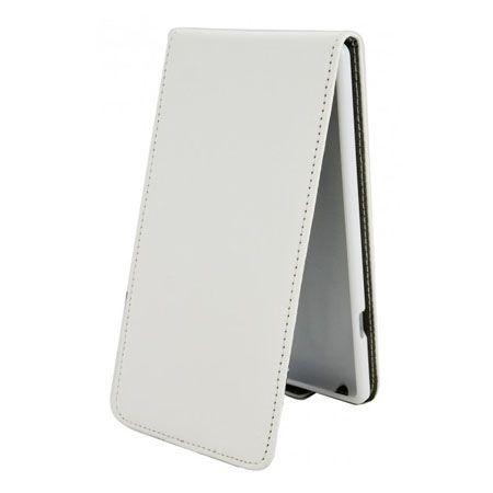 Etui na telefon iPhone 6 / 6s - kabura z klapką - biały