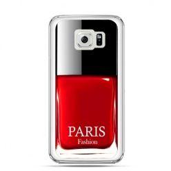 Etui na Galaxy S6 Edge Plus - lakier do paznokci czerwony