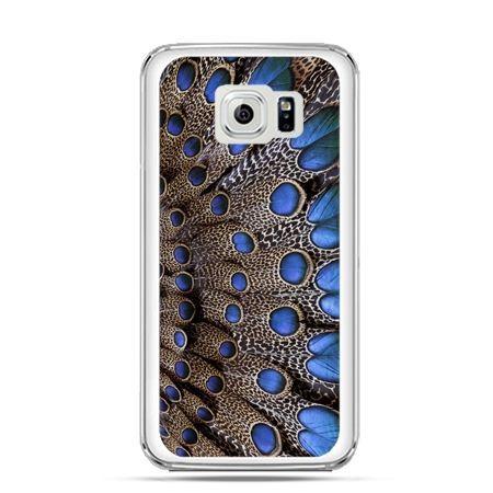 Etui na Galaxy S6 Edge Plus - niebieskie pióra