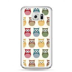 Etui na Galaxy S6 Edge Plus - kolorowe sowy