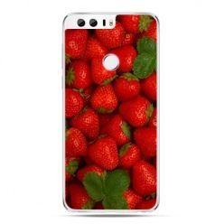 Etui na Huawei Honor 8 - czerwone truskawki