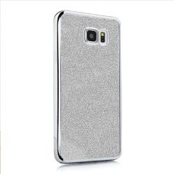 Galaxy S6 etui brokat silikonowe platynowane SLIM tpu srebrne.