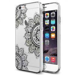 Silikonowe etui na iPhone 6 / 6s crystal case 3 ROZETY - czarna. PROMOCJA!!!