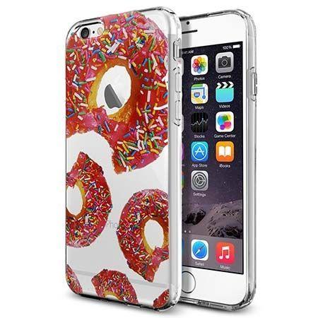 Silikonowe etui na iPhone 6 / 6s crystal case kolorowe pączki. PROMOCJA!!!
