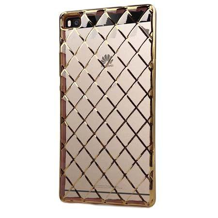 Huawei P8 platynowane etui Diamonds - złote. PROMOCJA !!!