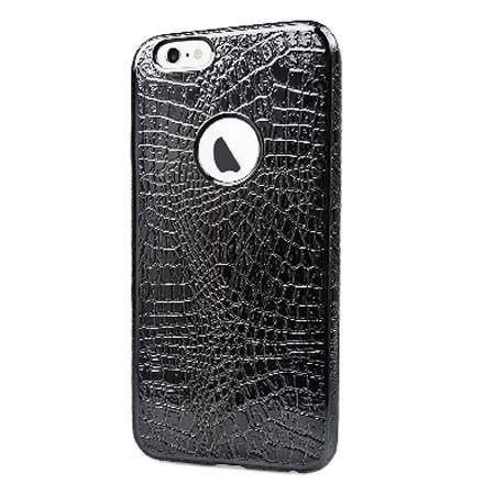 iPhone 6 / 6s silikonowe etui Skin Pattern - czarny. PROMOCJA!!!